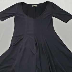 Silence & Noise Black Mid Skater Dress